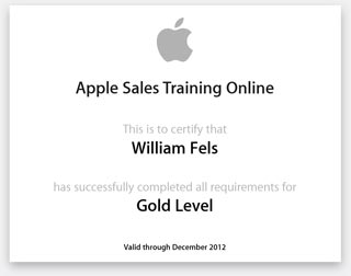 Apple Sales Training Gold