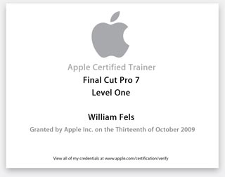 Apple Certified Trainer FCP