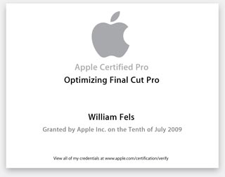 Apple Certified pro FCP